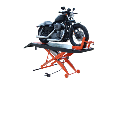Titan SDML-1000D Black and Orange Motorcycle Lift, FREE Shipping, (Additional Fees May Apply *See Notes*)