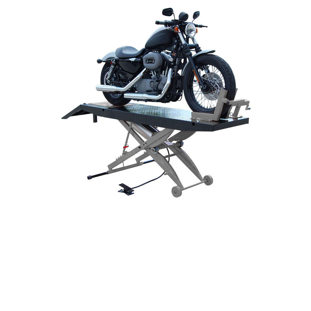 Titan SDML-1000D Black and Grey Motorcycle Lift, FREE Shipping, (Additional Fees May Apply *See Notes*)
