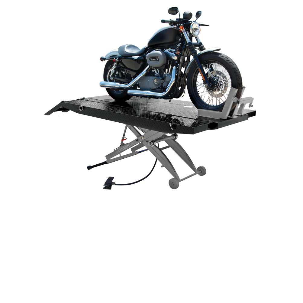 Titan SDML-1000D-XLT Black and Grey Motorcycle Lift, FREE Shipping, (Additional Fees May Apply *See Notes*)