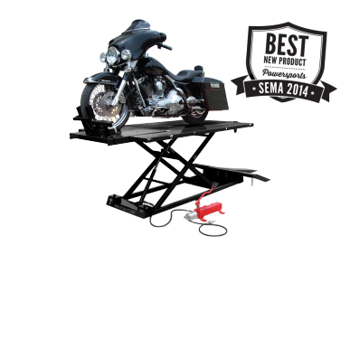 Titan 1500XLT Black Motorcycle Lift INCLUDES Bulldog Chock, FREE Shipping, (Additional Fees May Apply *See Notes*)