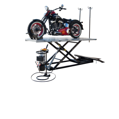 Titan 1500XLT-E Motorcycle Lift INCLUDES Wheel Vise, FREE Shipping, (Additional Fees May Apply *See Notes*)