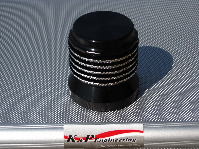 K&P Engineering Reusable Micronic Oil Filters - Fits All HD Except V-Rod - Anodized Diamond Cut