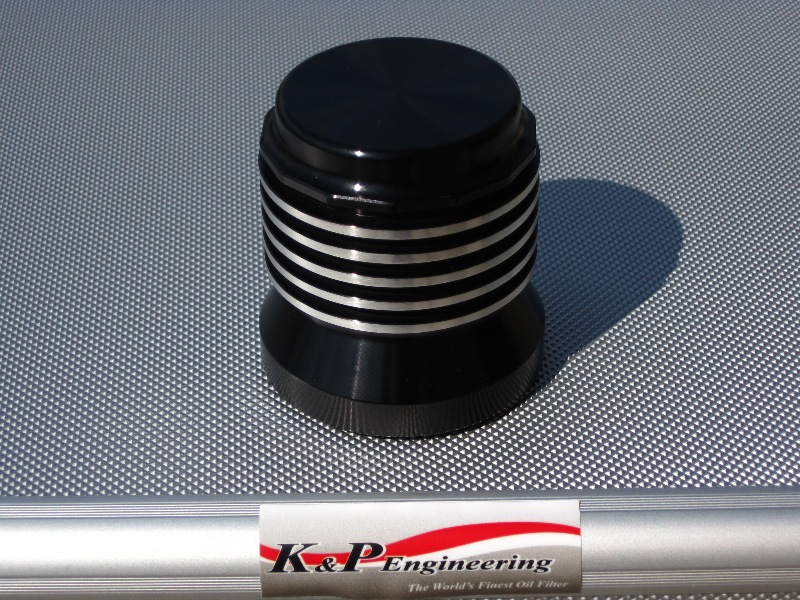 K&P Engineering Reusable Micronic Oil Filters - Fits All HD Except V-Rod - Anodized Buffed Edges