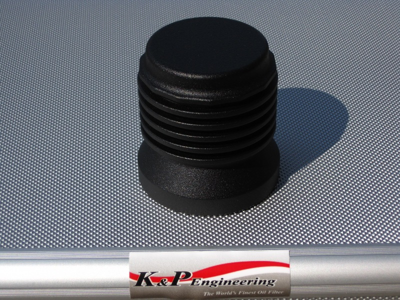 K&P Engineering Reusable Micronic Oil Filters - Fits All HD Except V-Rod - Powder Coated
