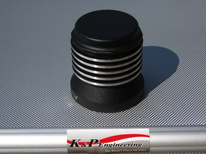 K&P Engineering Reusable Micronic Oil Filters - Fits All HD Except V-Rod - Powder Coated Buffed Edges