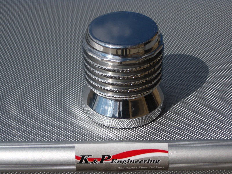 K&P Engineering Reusable Micronic Oil Filters - Fits All HD Except V-Rod - Polished Diamond Cut