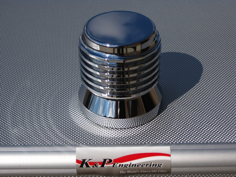 K&P Engineering Reusable Micronic Oil Filters - Fits All HD Except V-Rod - Chrome
